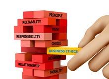 Ética empresarial ilustración del vector