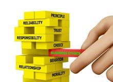 Ética empresarial Imágenes de archivo libres de regalías