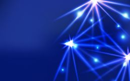 Étincelle brillante d'effet lumineux léger, abst au néon ultra-violet de concept illustration libre de droits