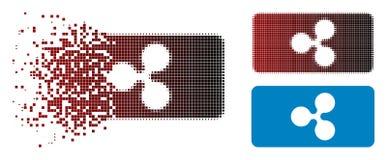 Étincelle Dot Halftone Ripple Bill Icon illustration de vecteur