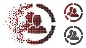 Étincelle Dot Halftone User Diagram Icon illustration libre de droits