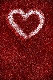 Étincelle rouge d'amour de fond d'abrégé sur Saint-Valentin de coeurs de scintillement Images libres de droits