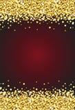 Étincelle verticale de miroitement d'or sur le vecteur rouge 1 de fond de Bourgogne illustration stock