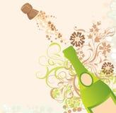 Étincelles d'un champagne, vecteur Image libre de droits