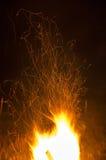 Étincelles de feu Images libres de droits