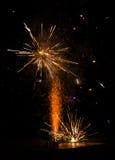 Étincelles de feux d'artifice Photo stock