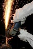Étincelles de meulage en métal Photo libre de droits