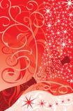 Étincelles de Noël d'un champagne, vecteur Photographie stock libre de droits