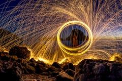 Étincelles de nuit Photos stock