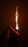 Étincelles du briquet de cigarette. Images libres de droits