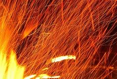 Étincelles du feu Image stock