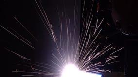 Étincelles du traitement de plasma de laser des constructions métalliques clips vidéos