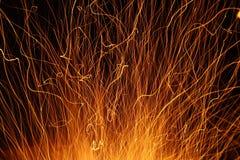 Étincelles et feu Photos stock