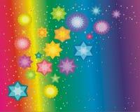 Étincelles sur un fond iridescent Illustration Libre de Droits