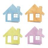 Étiquetez le métier de papier réutilisé par maison Image stock