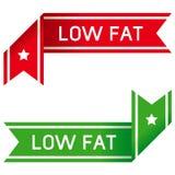 Étiquette à faible teneur en matière grasse de nourriture Photographie stock libre de droits