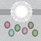 étiquette élégante de Pâques Photographie stock libre de droits
