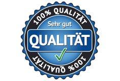 Étiquette 100% de qualité Images stock
