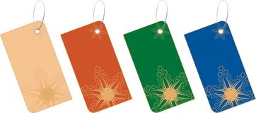 Étiquette 3 de vente de Noël Illustration Stock
