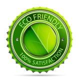 Étiquette amicale d'Eco Photographie stock libre de droits