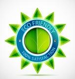 Étiquette amicale de fleur d'Eco Image stock