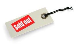 Étiquette avec à l'extérieur vendue l'inscription Images libres de droits