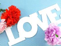 Étiquette avec des mots avec amour Photo stock
