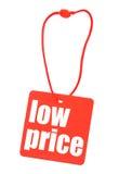 Étiquette avec le prix bas photographie stock