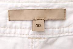 Étiquette blanc Photographie stock