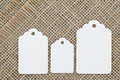 Étiquette blanc Image stock