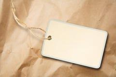Étiquette blanc d'étiquette de module Photographie stock libre de droits