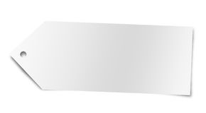 étiquette blanc d'achats Photos libres de droits