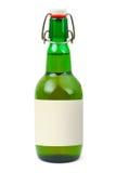 étiquette blanc de bouteille de bière photographie stock