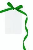 Étiquette blanc de cadeau Images libres de droits