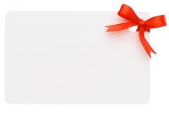 Étiquette blanc de cadeau Photos libres de droits