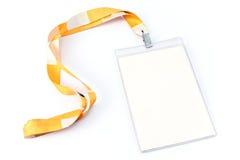Étiquette blanc de carte d'identification Image stock