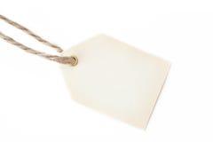 étiquette blanc de chaîne de caractères de cadeau Images stock