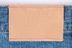 étiquette blanc de jeans Image stock