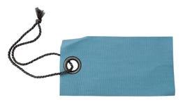 Étiquette blanc de tissu avec la bande Photographie stock libre de droits