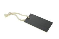Étiquette blanc noire de papier de carton Photo libre de droits