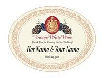Étiquette blanc pour des bouteilles Image libre de droits