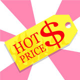 Étiquette chaude de vente des prix Photos libres de droits