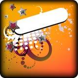 étiquette colorée étoilée Images libres de droits