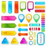 Étiquette colorée d'étiquette Image libre de droits