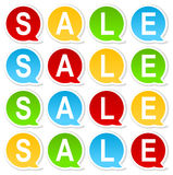 étiquette colorée de vente Photo stock