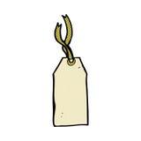 étiquette comique de bagage de bande dessinée Photos stock