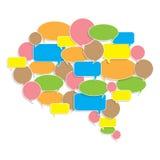 Étiquette créative colorée de bulle Images stock