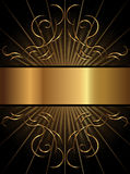 Étiquette décorative de fond Photographie stock