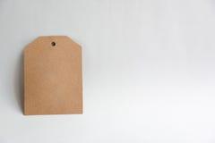 Étiquette décorative vide de cadeau de papier de carton Illustration Stock