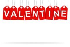 Étiquette d'étiquette de valentine de coeur Images stock